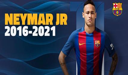 Neymar yeni müqavilə imzaladı