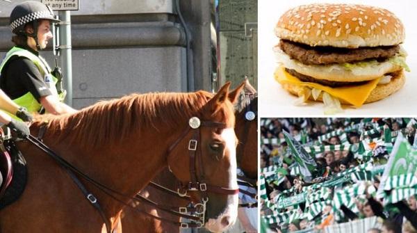 Şotlandiyalı azarkeş polis atına görün nə atdı? -