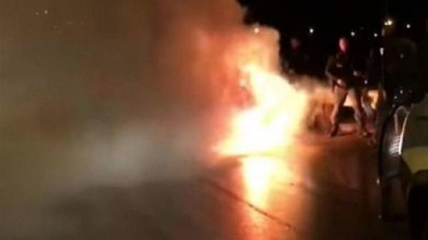 İtaliya klubunun avtobusu yandı