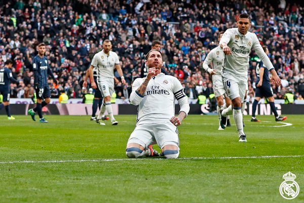 Real Madrid's Sergio Ramos bounces back with double to see off Málaga