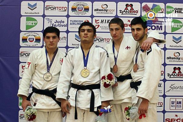Cüdoçularımız Antalyada 3 qızıl və 1 bürünc medal qazandılar