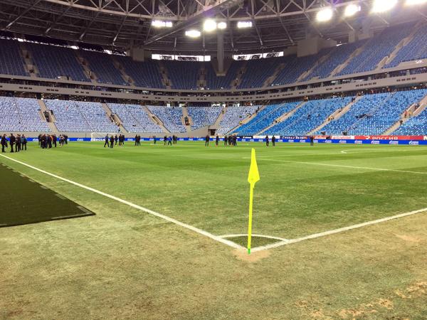Bir milyard dollarlıq stadionun bərbad qazonu - FOTO